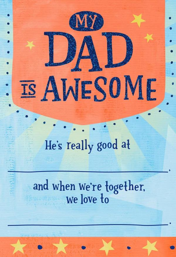 Madlib for Dad Father's Day Card - Greeting Cards - Hallmark