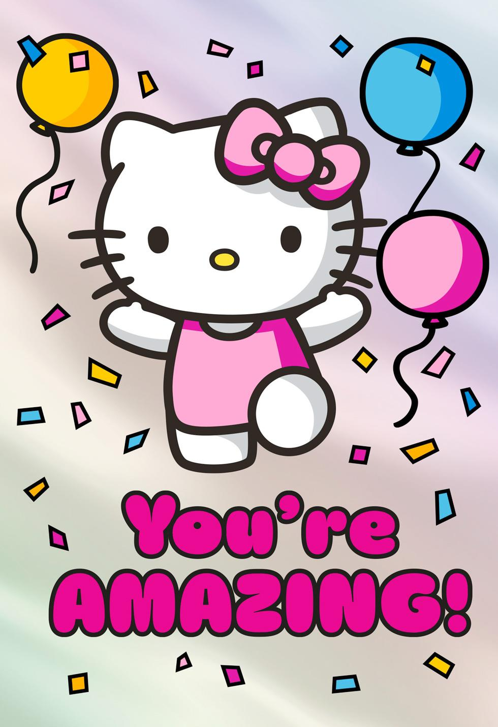 Hello Kitty 174 You Re Amazing Birthday Card For Girl