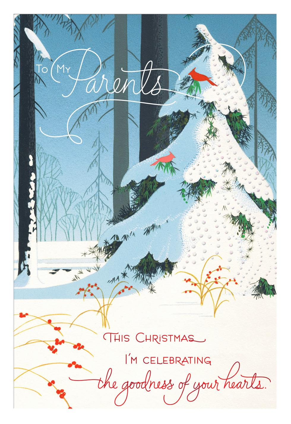 Celebrating Goodness Christmas Card For Parents Greeting