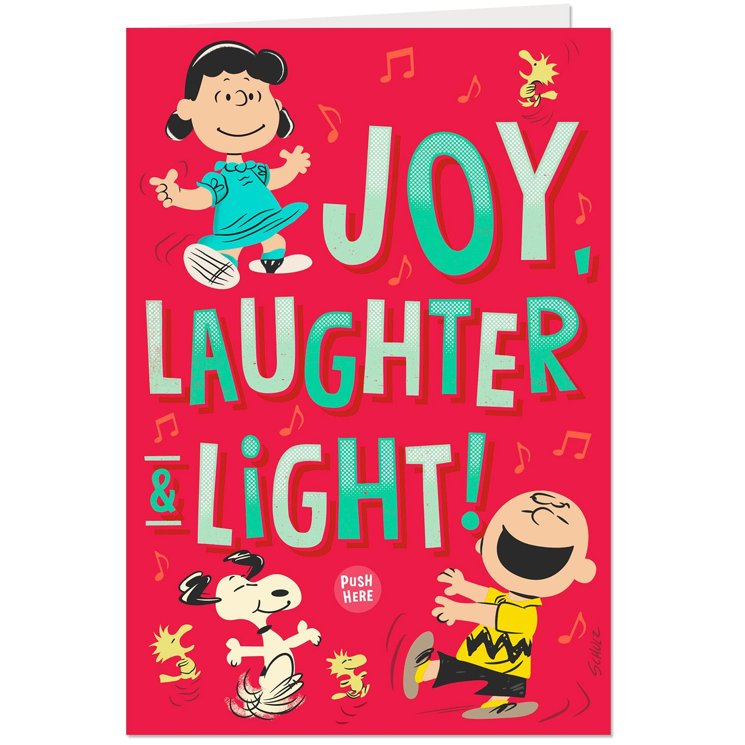 Peanuts Gang Dancing Musical Christmas Card With Light