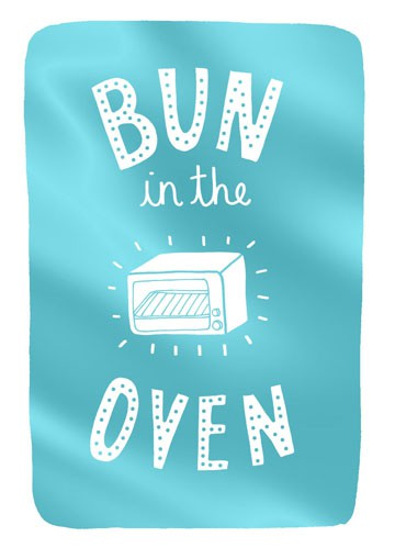 Bun In The Oven Baby Congratulations Card Greeting Cards