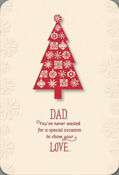 Loving Dad Christmas Tree Card Greeting Cards Hallmark