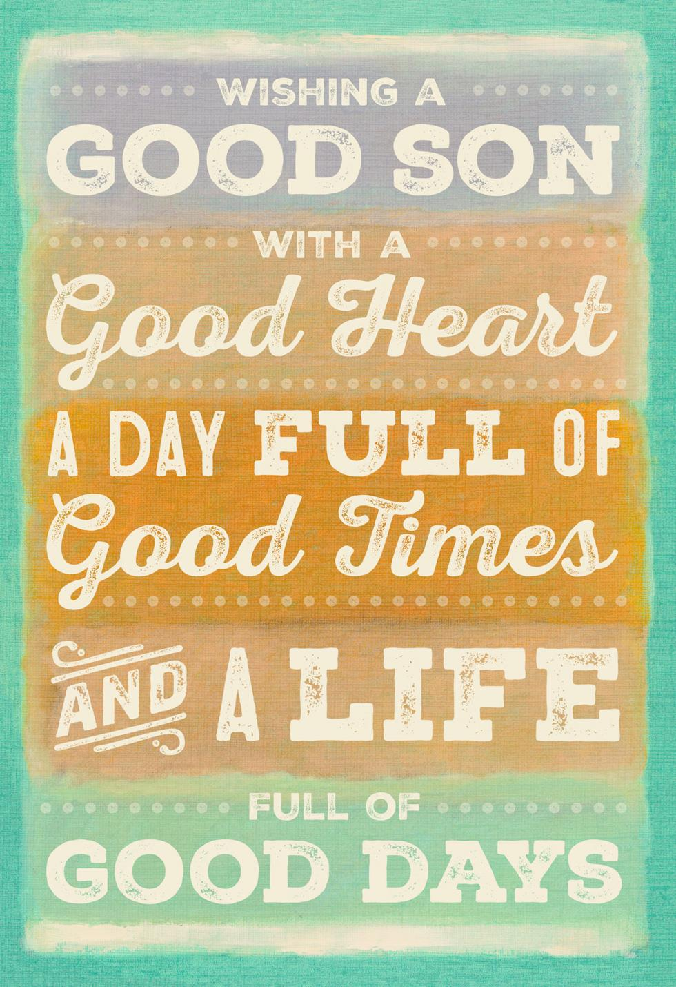 Its All Good Son Birthday Card Greeting Cards Hallmark