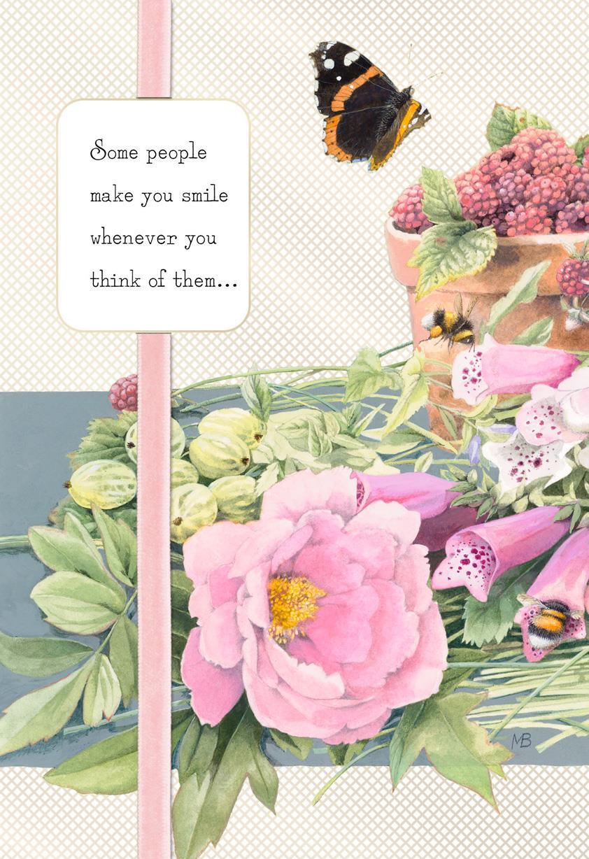 Marjolein Bastin You Make Me Smile Thinking Of You Card