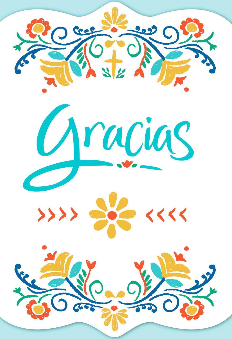 May God Bless You Always Spanish Language Religious Thank