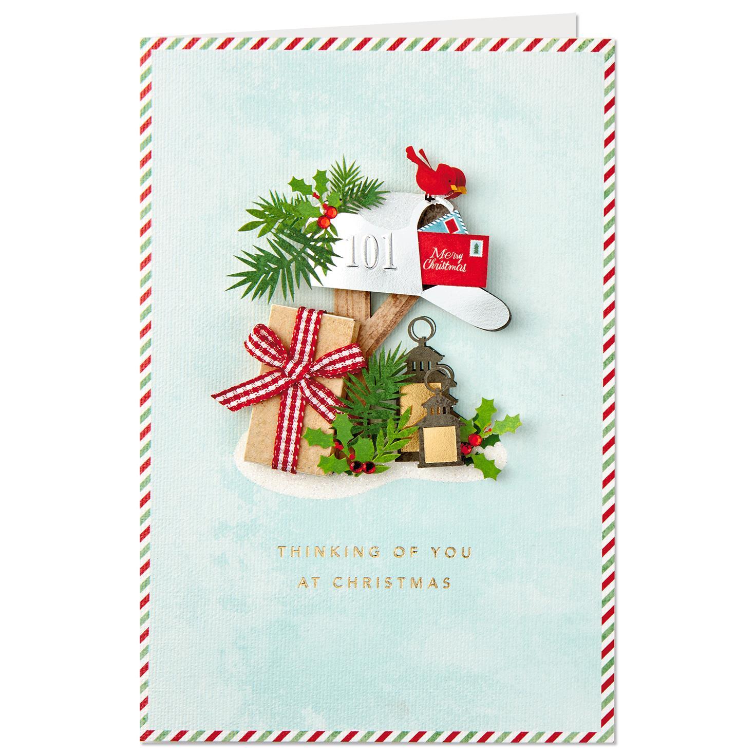 Cardinal And Mailbox Across The Miles Christmas Card