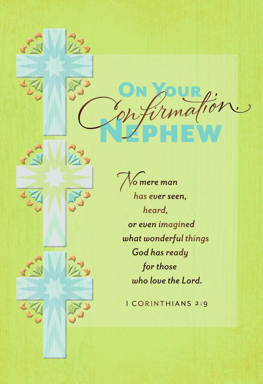 Three Crosses Confirmation Card For Nephew Greeting Cards Hallmark