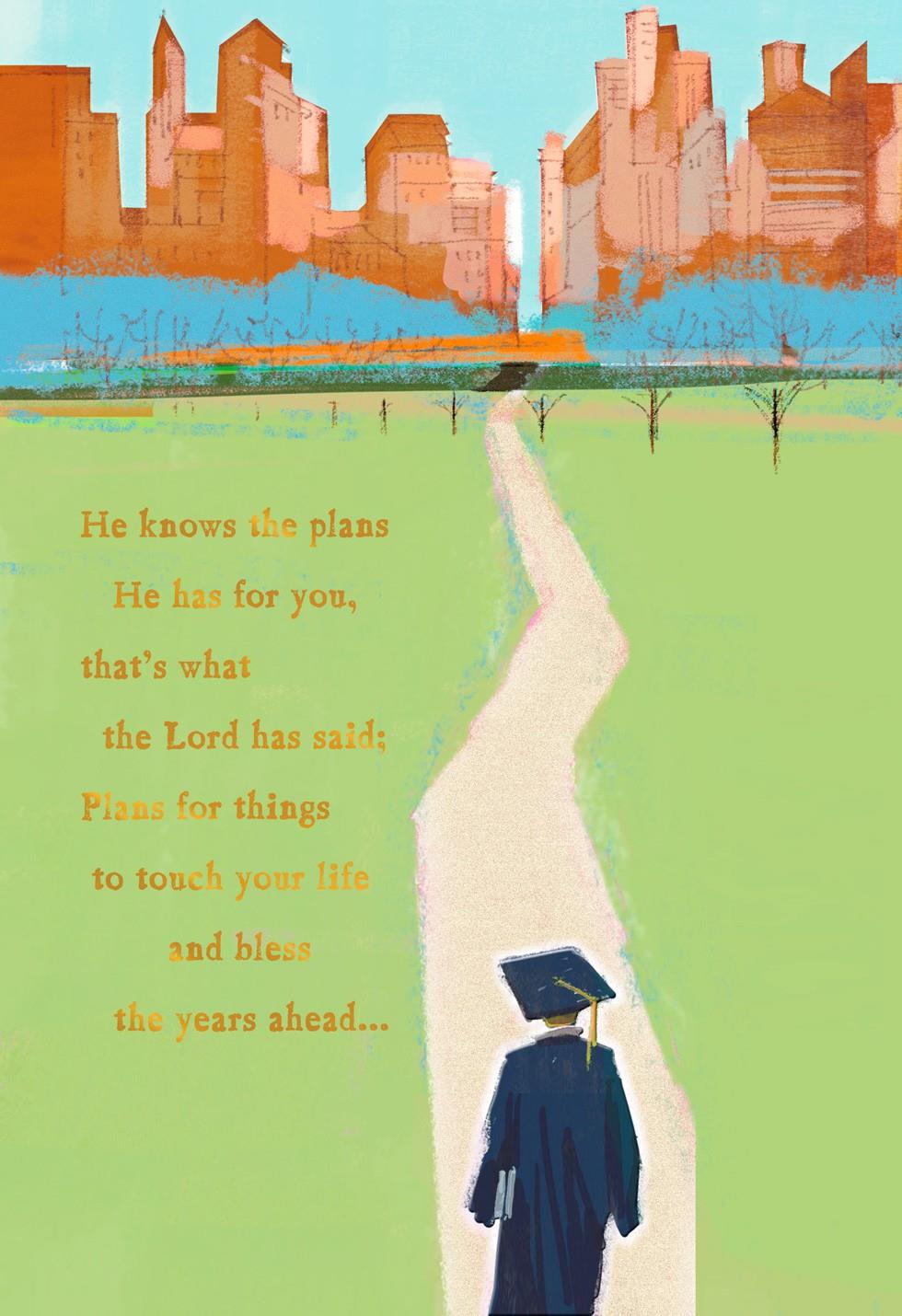 Path Of Success Religious Graduation Card End Of Life