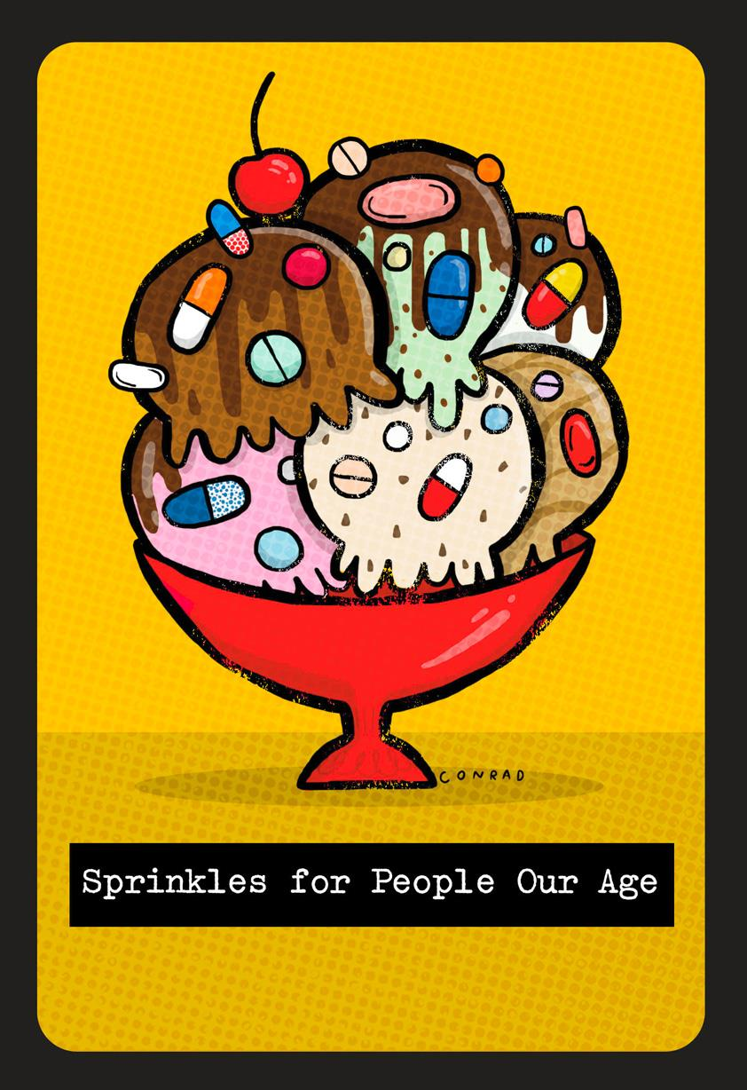 Old Age Ice Cream Sprinkles Funny Birthday Card Greeting