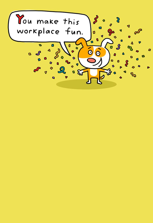 Confetti Dog Funny Bosss Day Card Greeting Cards Hallmark