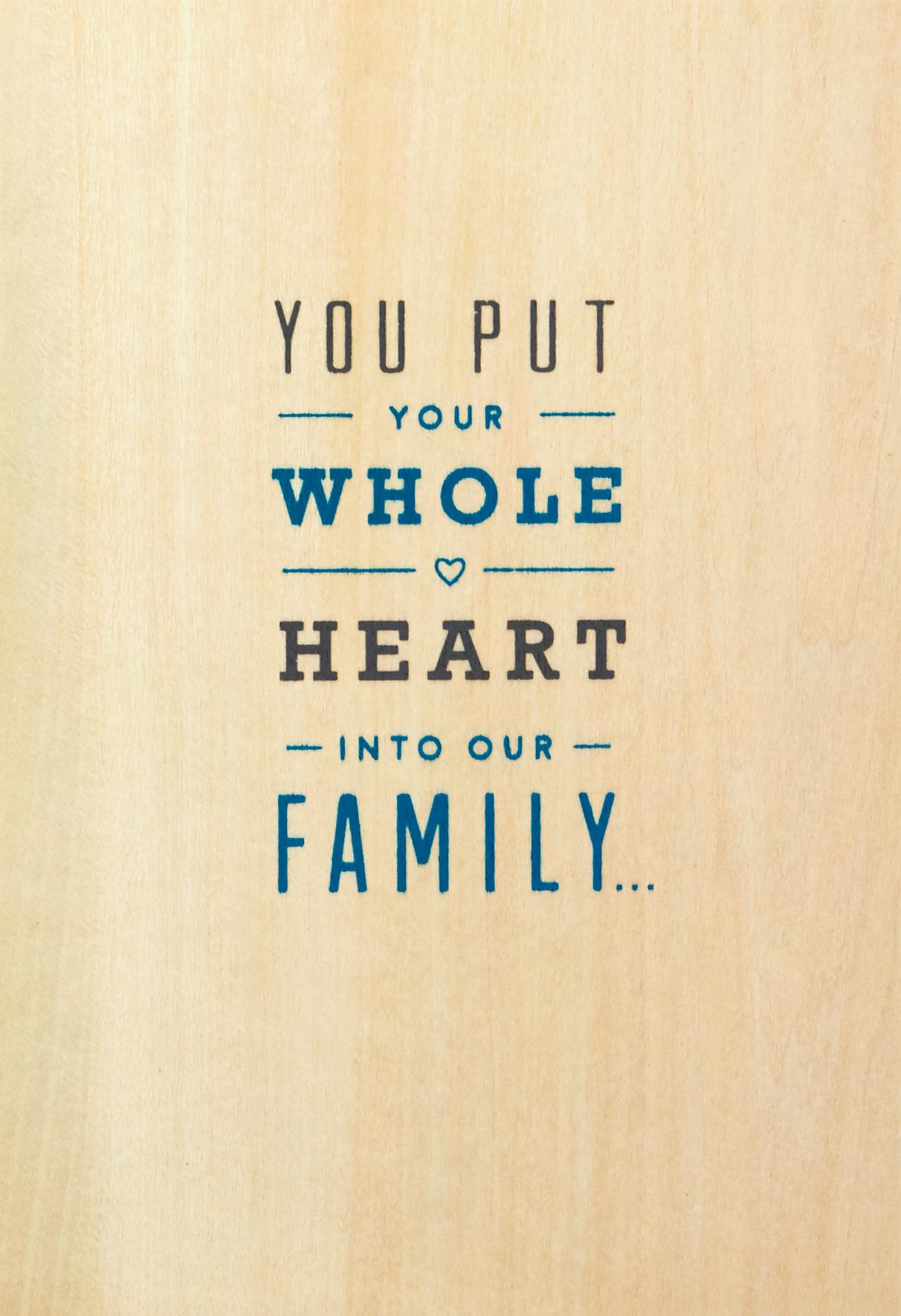 Your Whole Heart Fathers Day Card For Husband Greeting