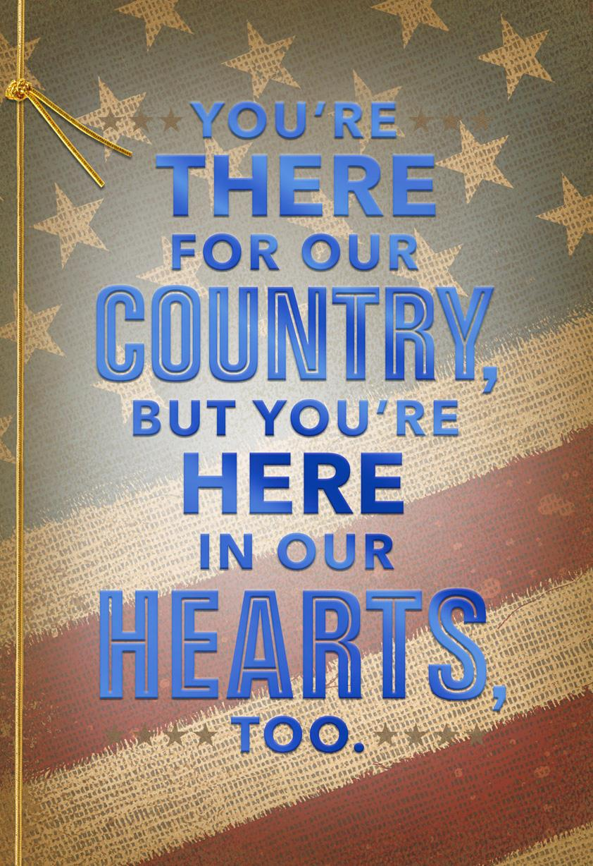 There For Our Country Military Appreciation Card Greeting Cards Hallmark