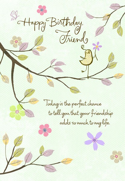 Thankful Friend Birthday Wishes Card Greeting Cards