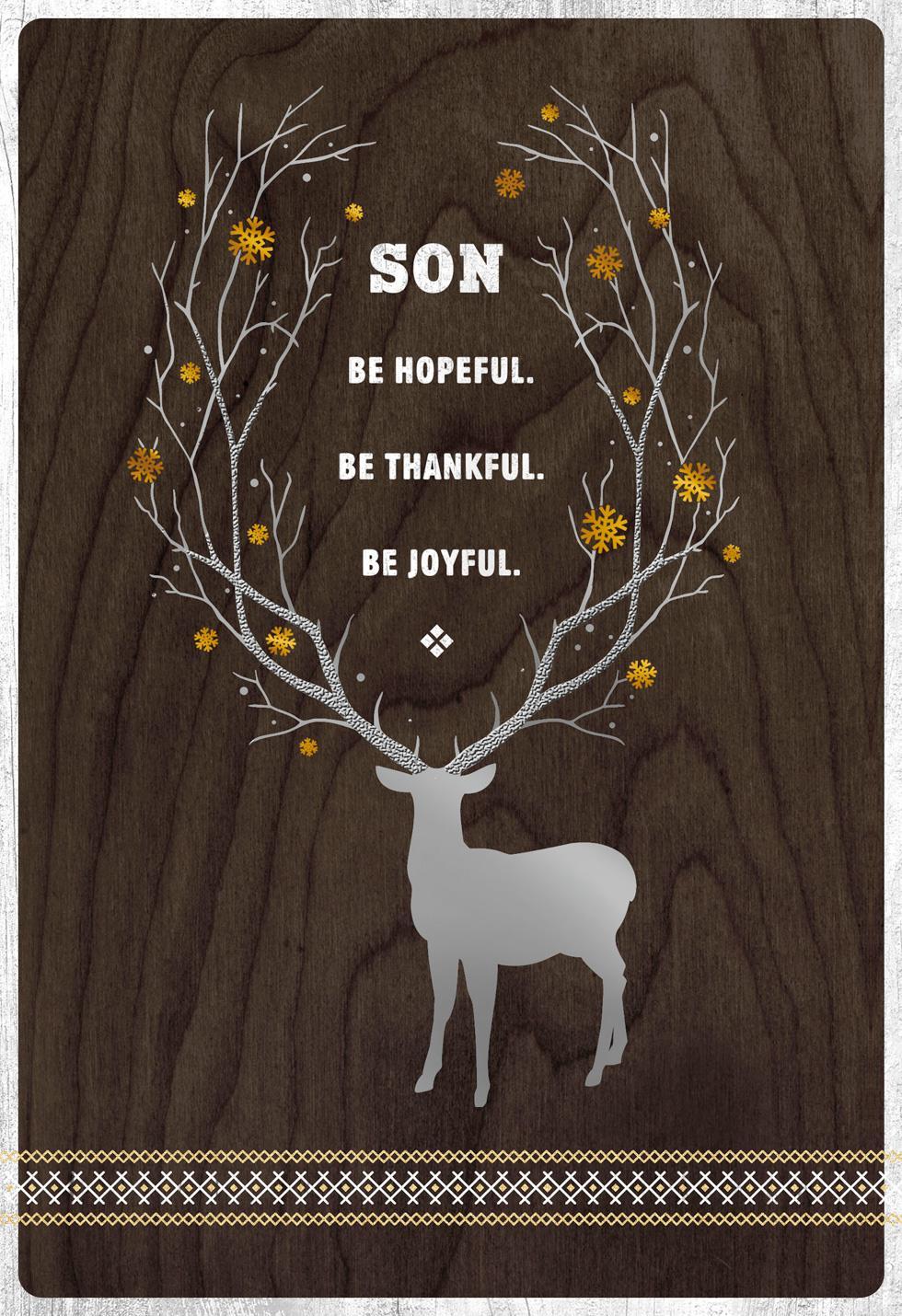 Be Hopeful Christmas Card For Son Greeting Cards Hallmark