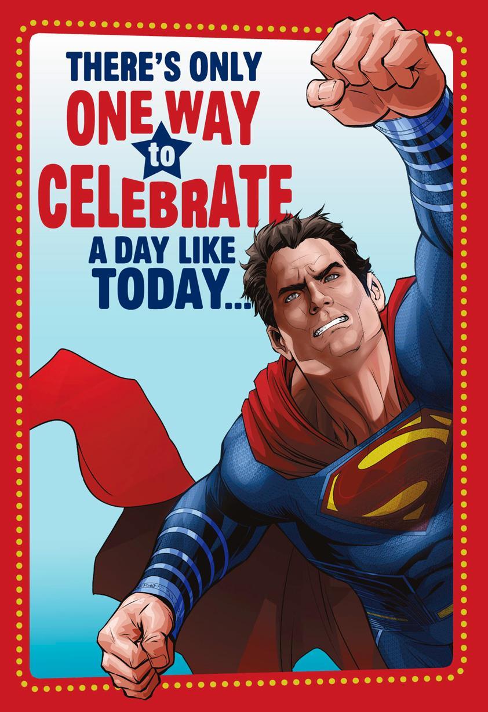 Superman Heroic Celebration Birthday Card Greeting