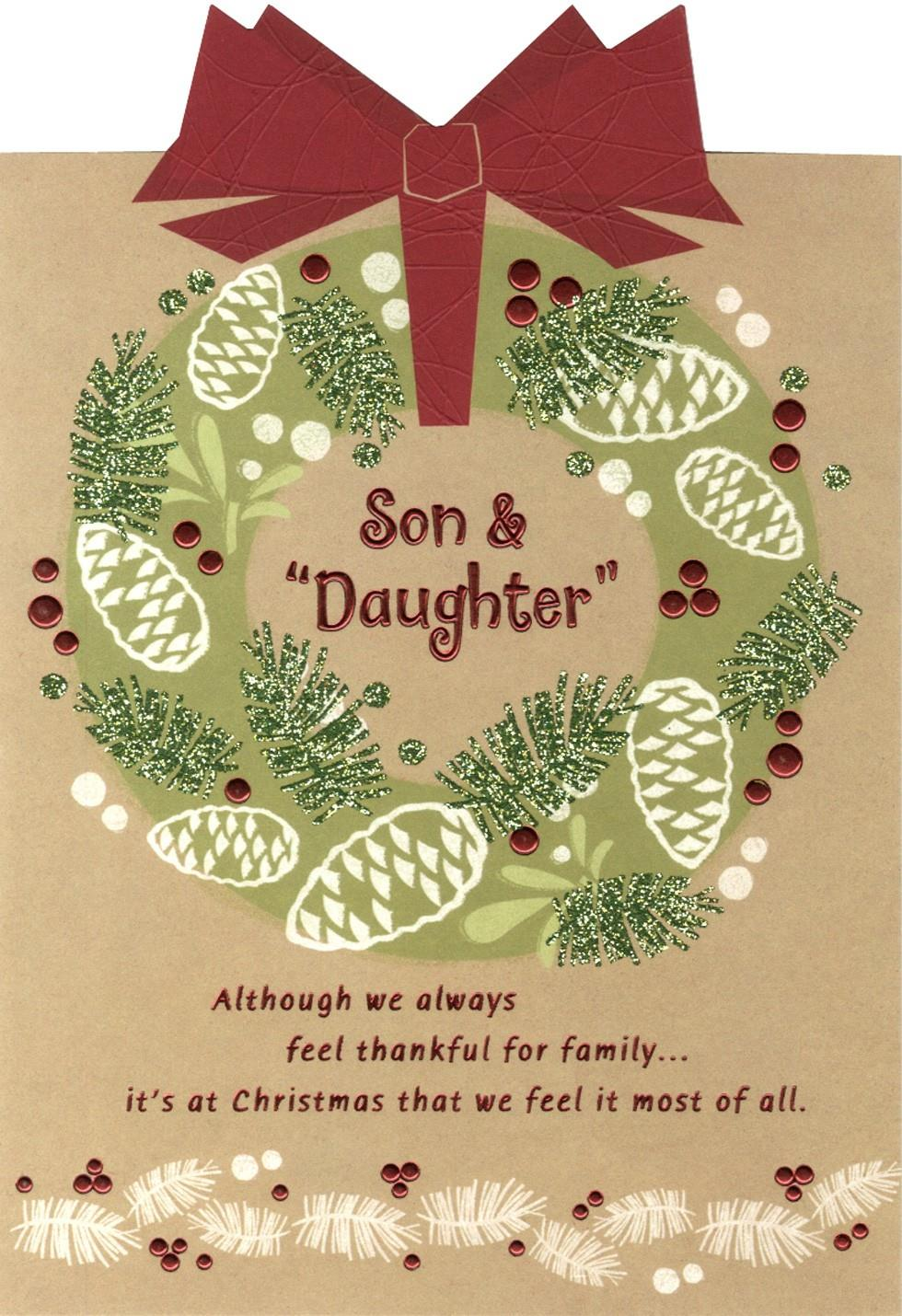 Grateful For You Son And Daughter Christmas Card End