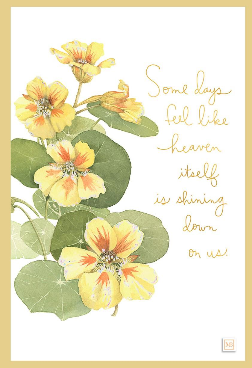 May Heaven Shine Down Marjolein Bastin Encouragement Card