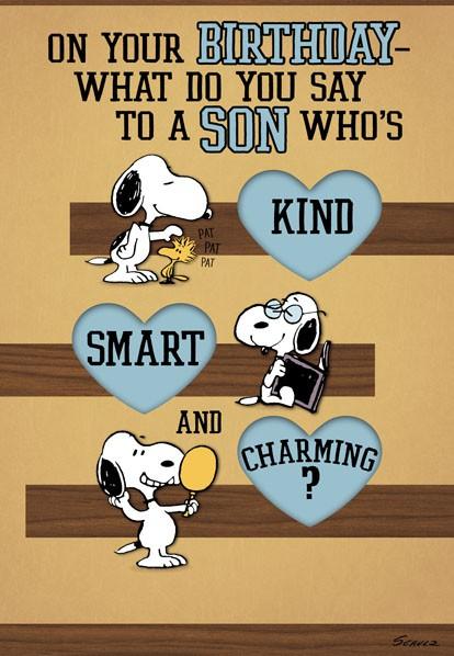 Snoopy Love Ya Son Birthday Card Greeting Cards Hallmark