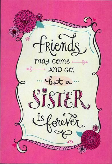 Sister Forever Friend Valentines Day Card Greeting