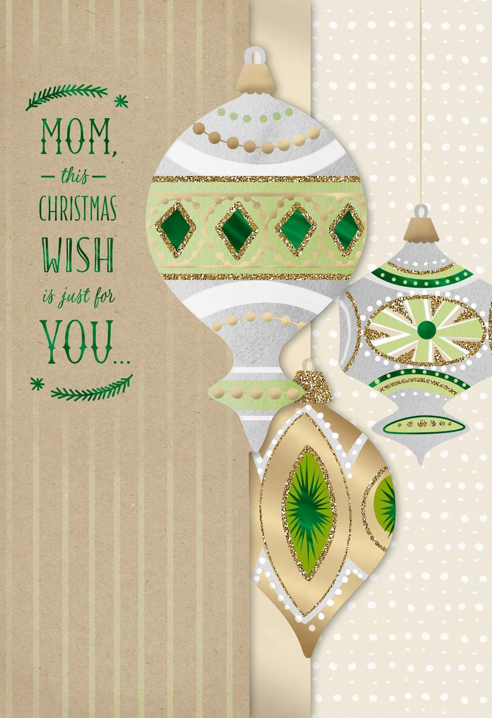 Wishes For Mom Christmas Card Greeting Cards Hallmark
