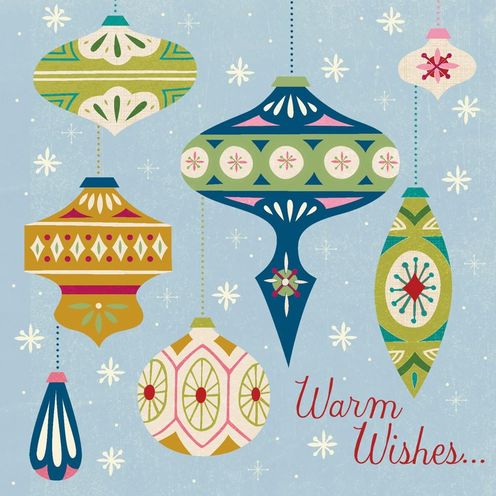 Warm Wishes Cool Musical Christmas Card Greeting Cards