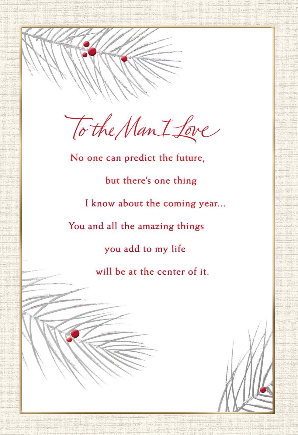 To The Man I Love Christmas Card Greeting Cards Hallmark
