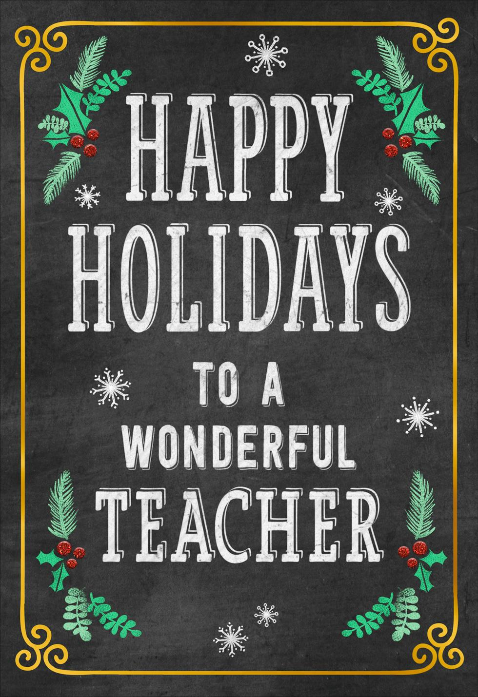 Well Deserved Break Christmas Card For Teacher Greeting