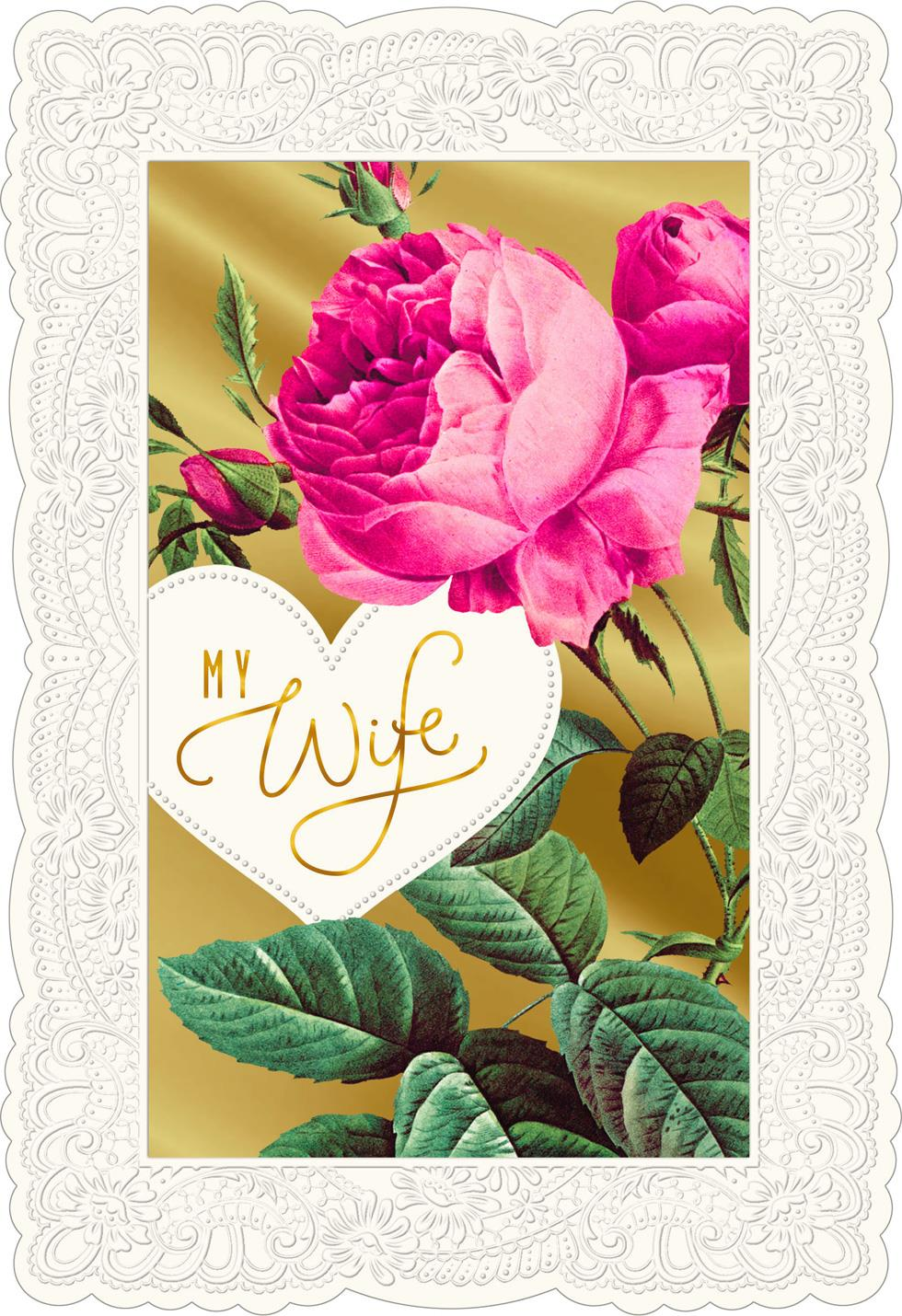 Grateful For You Valentines Day Card For Wife Greeting