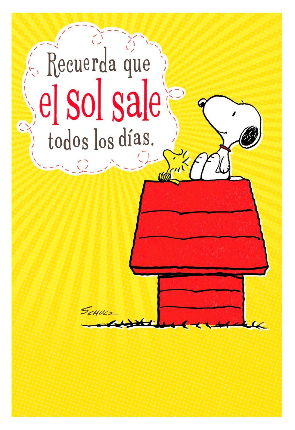 Peanuts Snoopy Spanish Language Encouragement Card