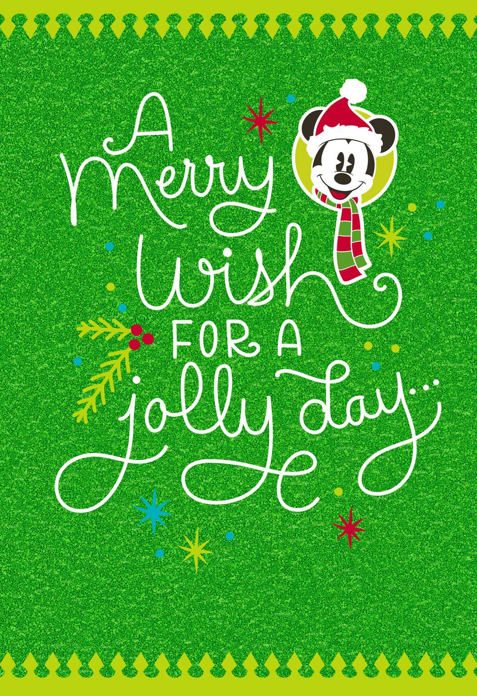 Mickey Mouse Merry Wishes Christmas Card Greeting Cards Hallmark