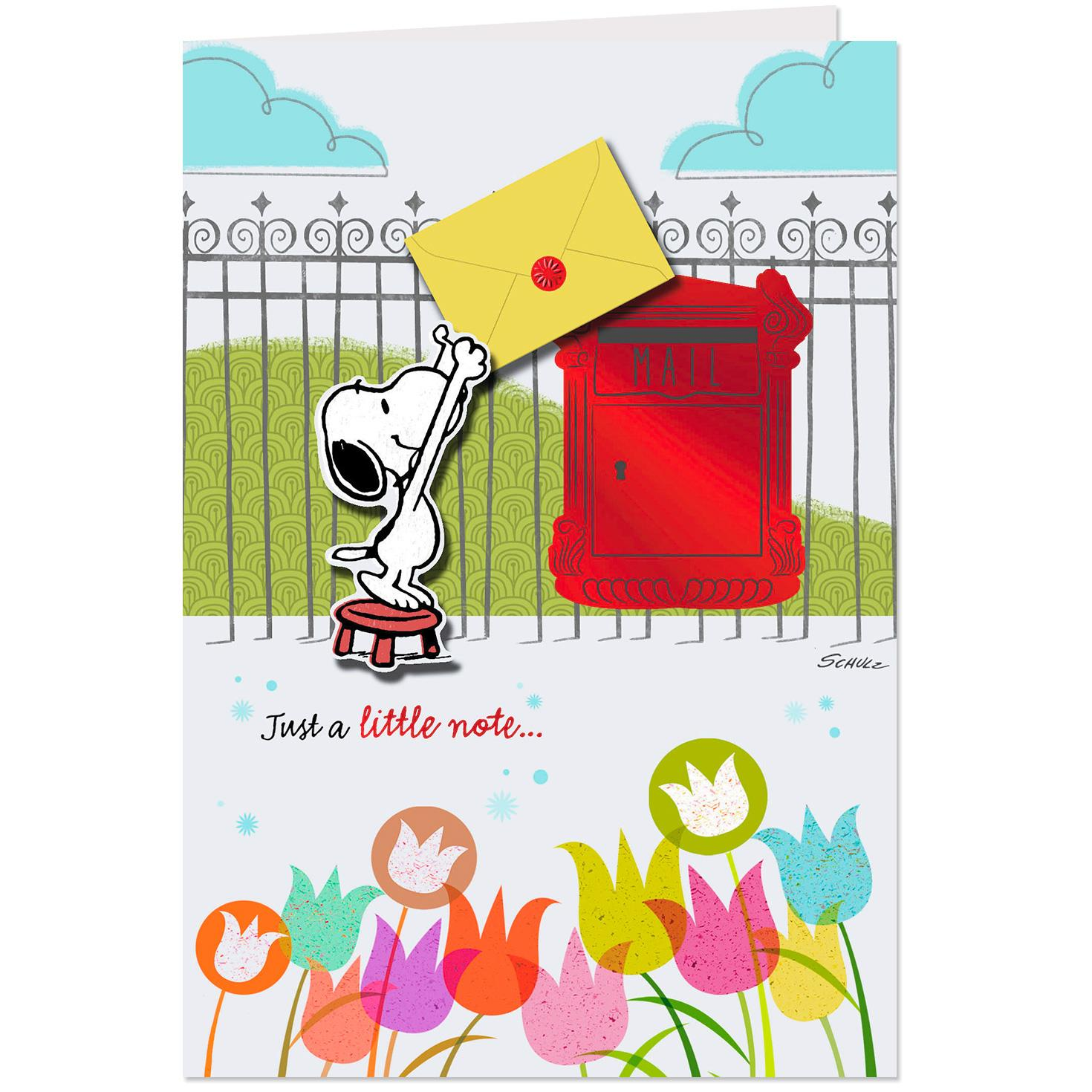 Peanuts Snoopy All The Happy Wishes Birthday Card Greeting Cards Hallmark