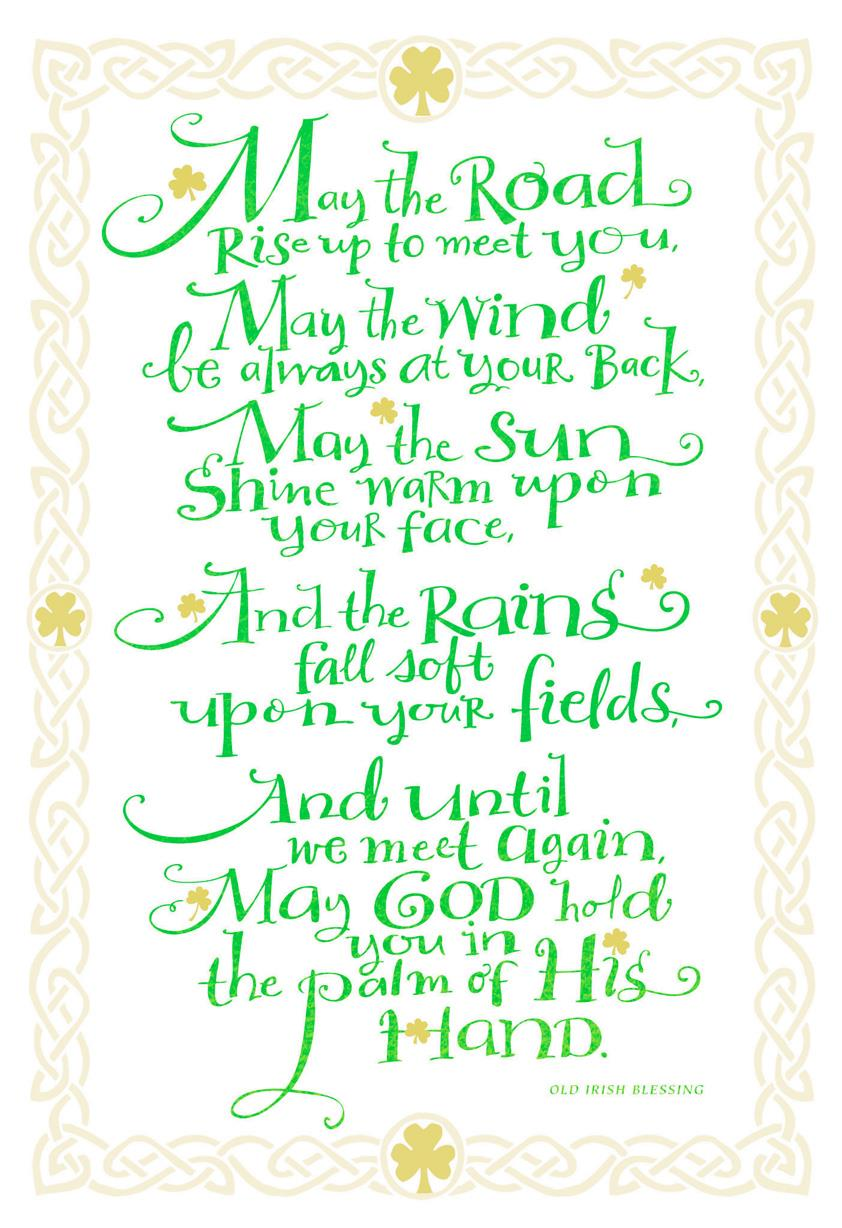 Old Irish Blessing St Patricks Day Card Greeting Cards