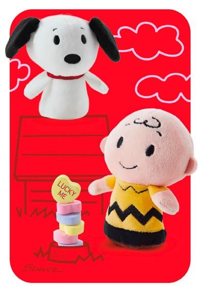 Peanuts Itty Bittys Greetings Valentine Card Greeting
