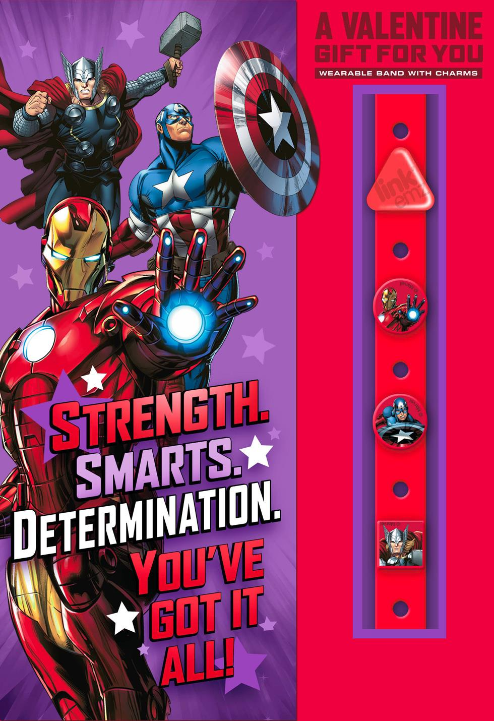 Marvel Avengers Valentines Day Card With Linkemz