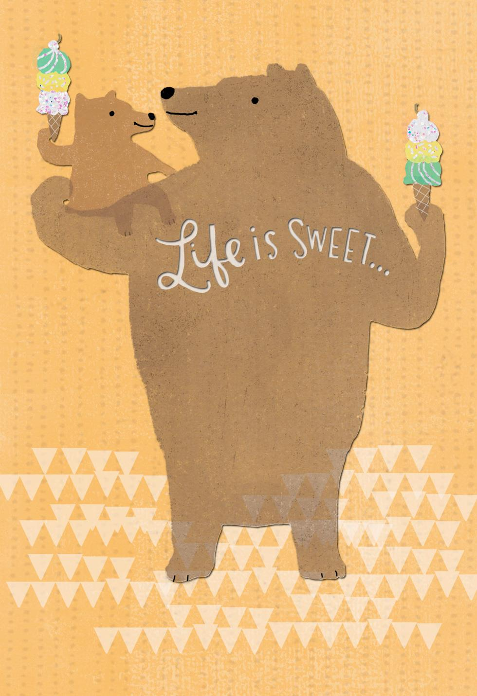 Big And Little Bear Fathers Day Card For Great Grandpa