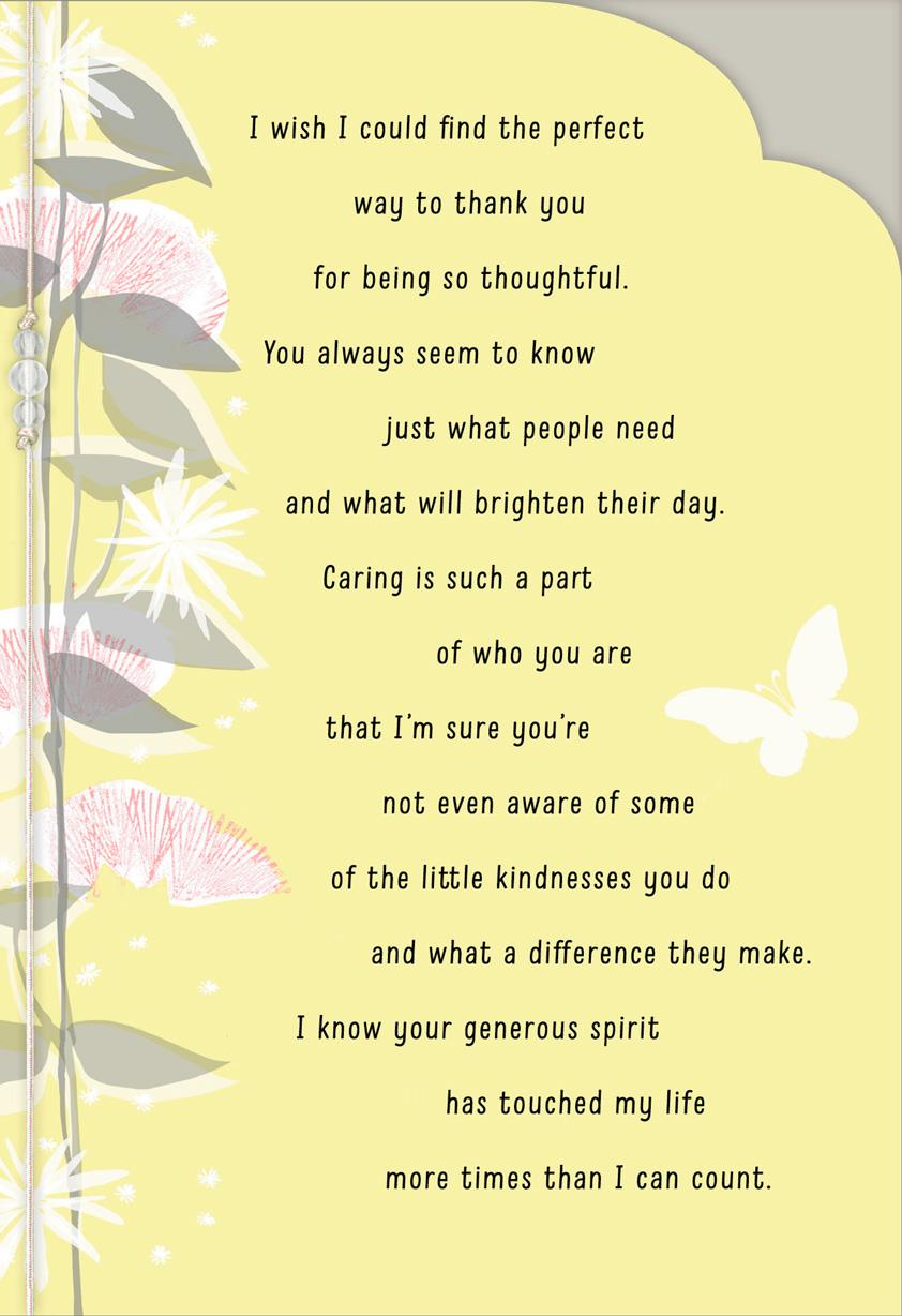 Your Kindness Means So Much Thank You Card Greeting