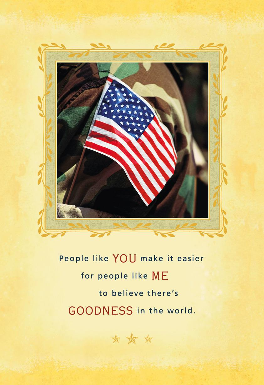 People Like You Military Appreciation Card Greeting