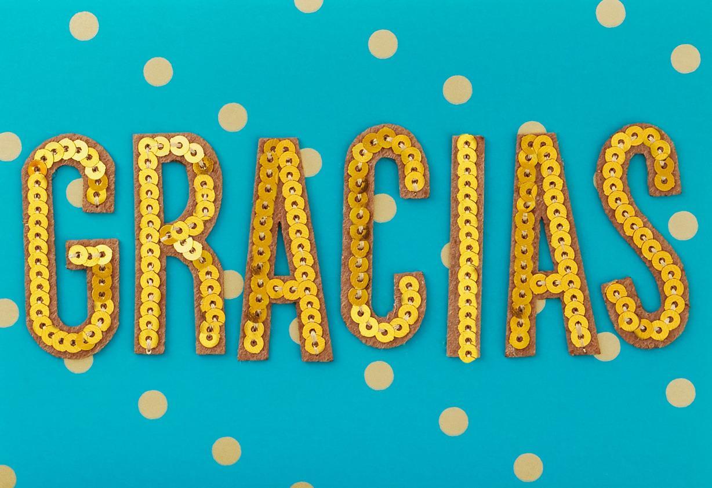 Gracias Spanish Language Thank You Card Greeting Cards
