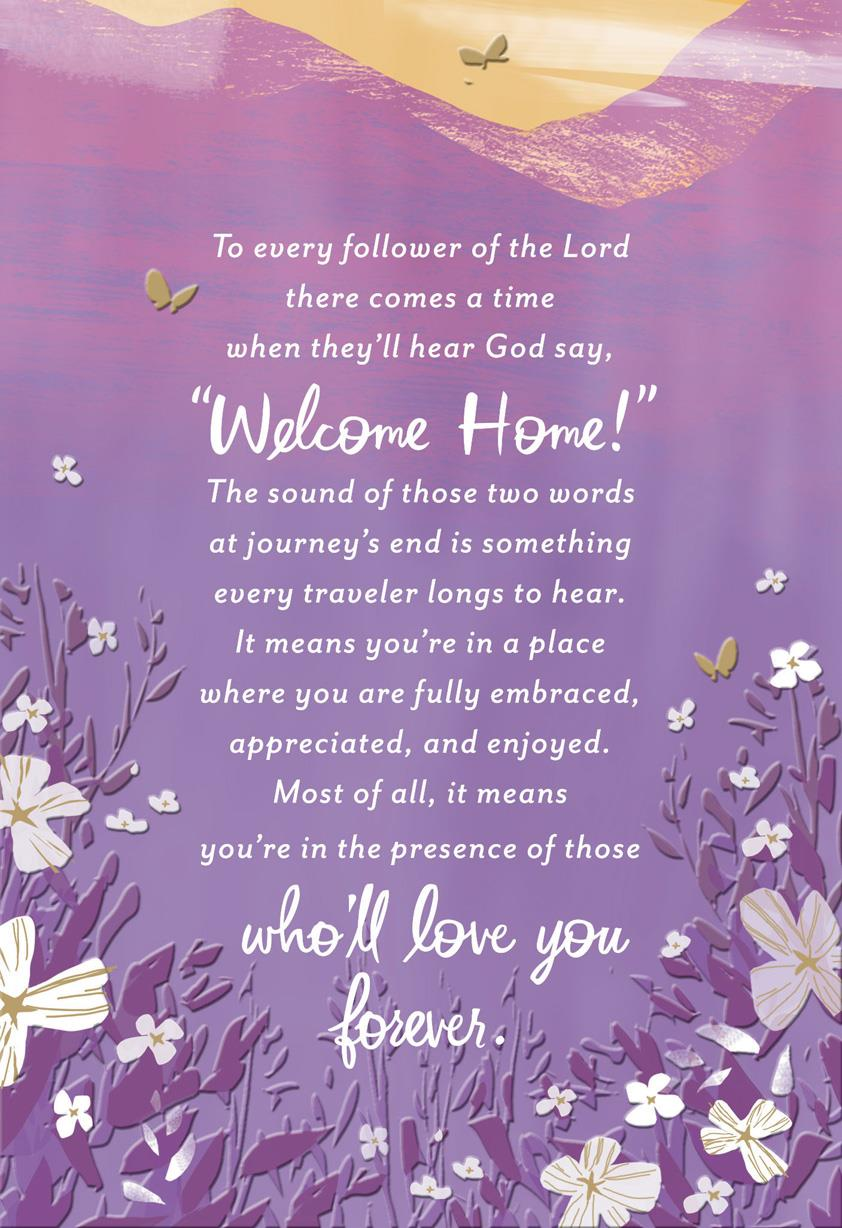 Welcome Home Religious Sympathy Card Greeting Cards