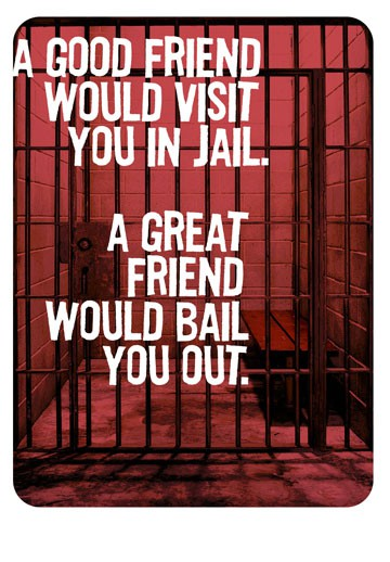 Friends In Jail Funny Birthday Card Greeting Cards