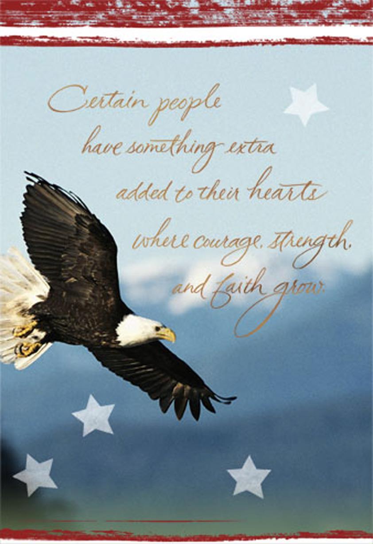 Courageous Strong Faithful Military Thank You Card