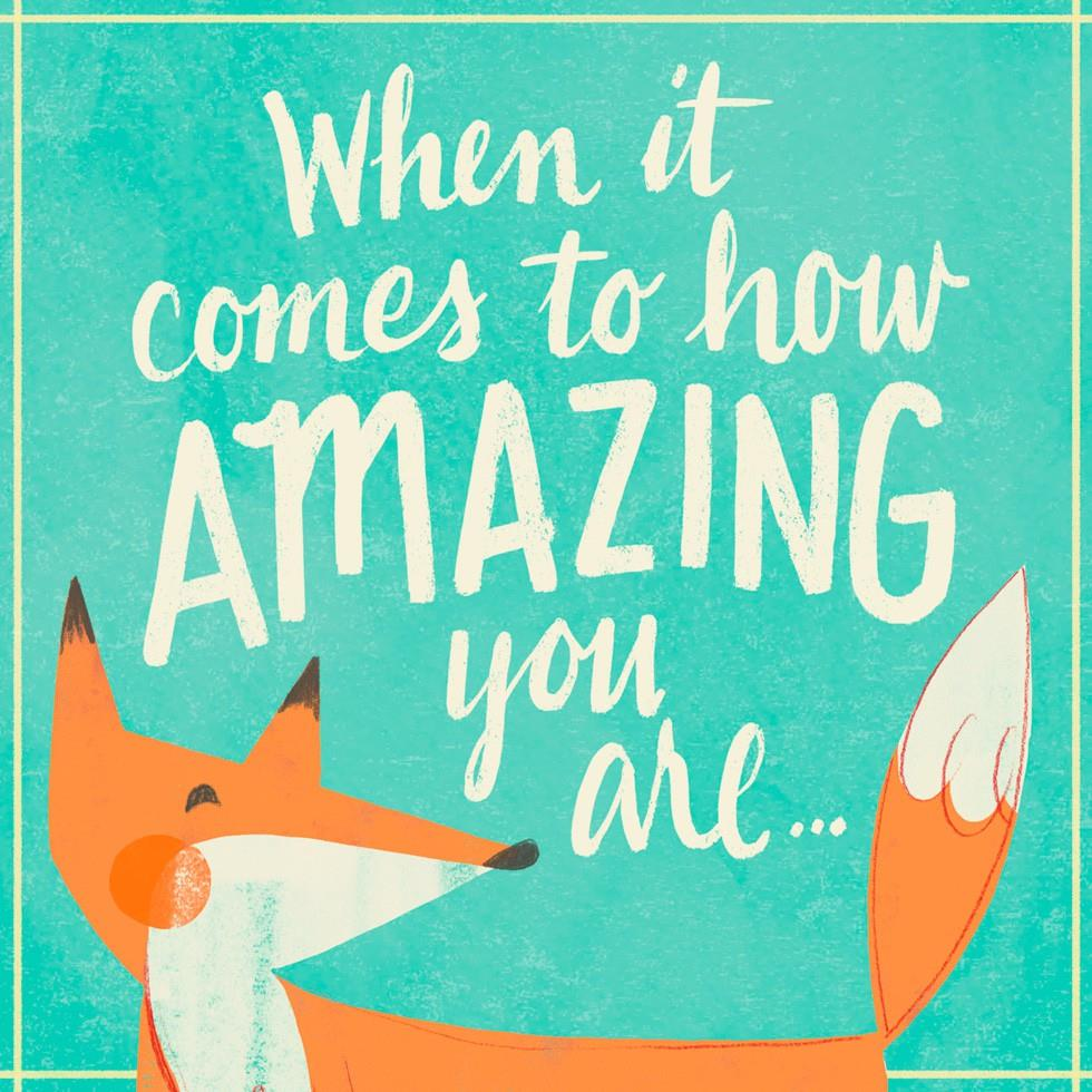 Youre Amazing Just Because Music Card Greeting Cards