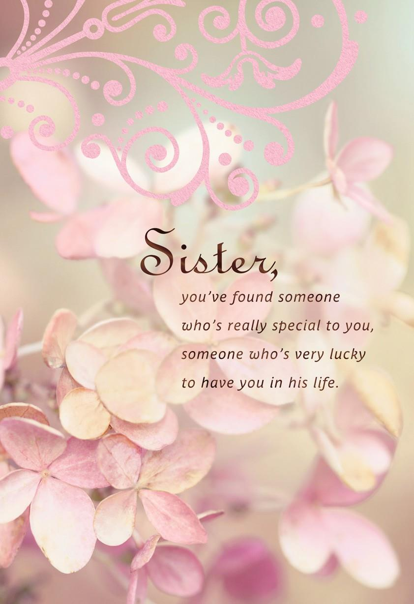 Hes Lucky To Have You Sister Wedding Card Greeting