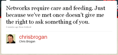 Chris Brogan Tweet