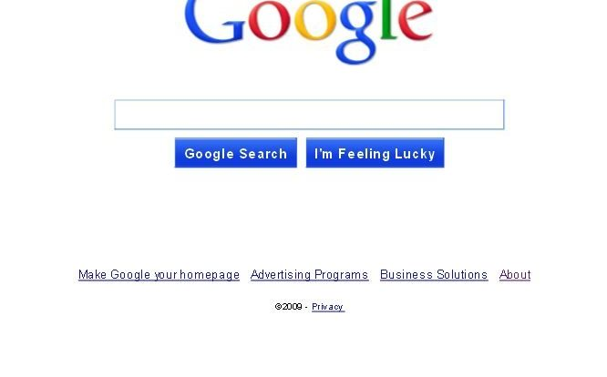 new google interface home page