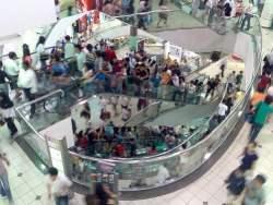 Crowded Mall
