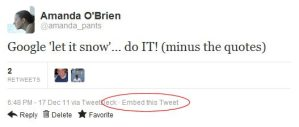 How to embed tweets