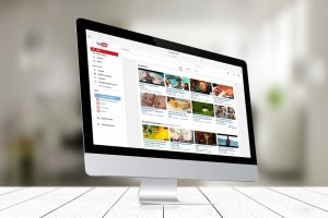 The YouTube homepage displayed on a modern computer