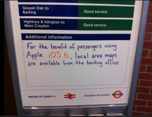 Apple Maps Sign