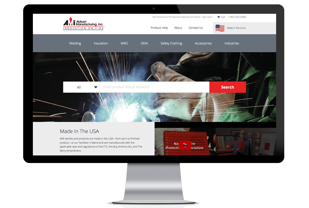 Auburn Manufacturing Page Layout